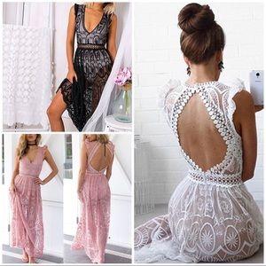 Dresses & Skirts - BEAUTIFUL LACE BACKLESS DRESS💋SALE💋
